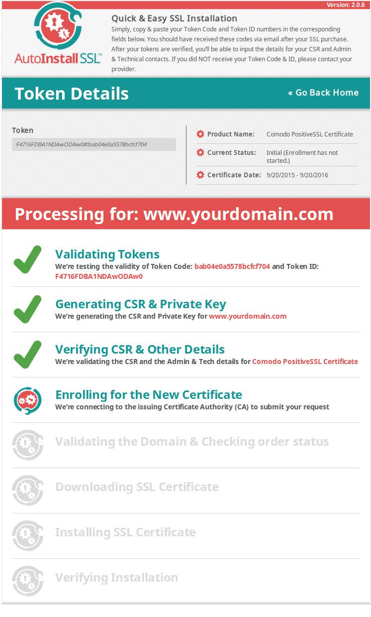 Successful SSL Certificate Installation